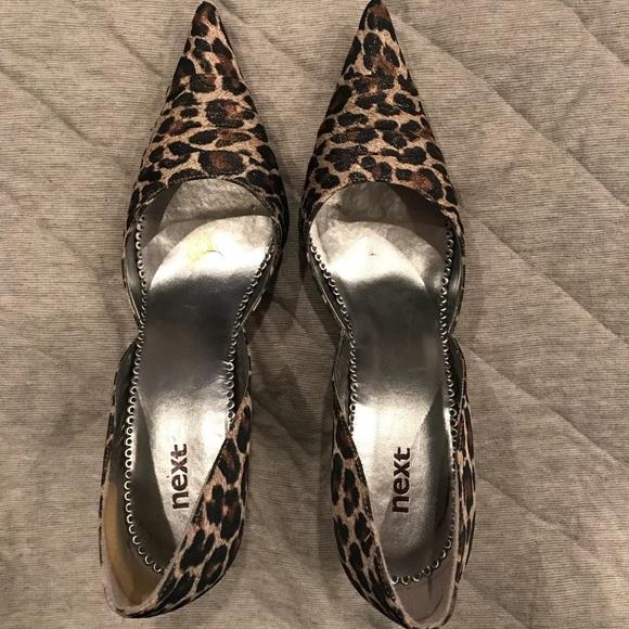 Brand Leopard Print Heels Size